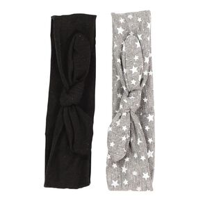 Colour Co. Fabric Hair Bands Black 2 Pack