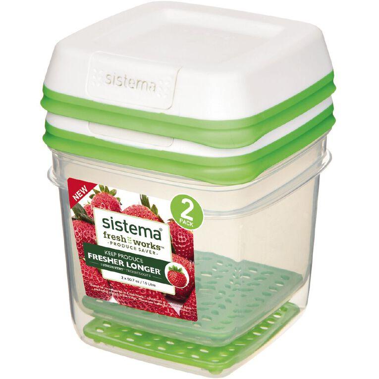 Sistema FreshWorks Medium Square 2 Pack 1.5L, , hi-res