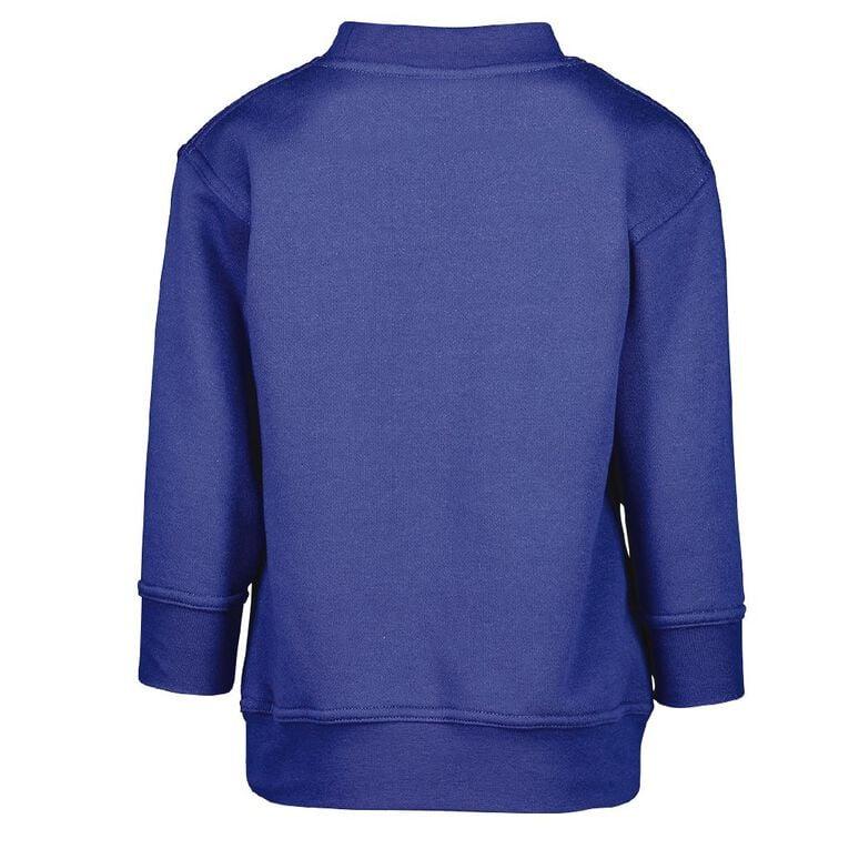 Schooltex Owhata Crew Sweatshirt with Transfer, Royal, hi-res