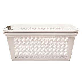 Living & Co Storage Basket Large White 2 Pack