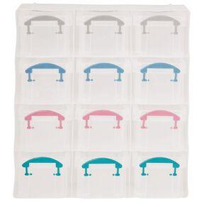 Uniti Plastic Storage Box with 12 Compartments