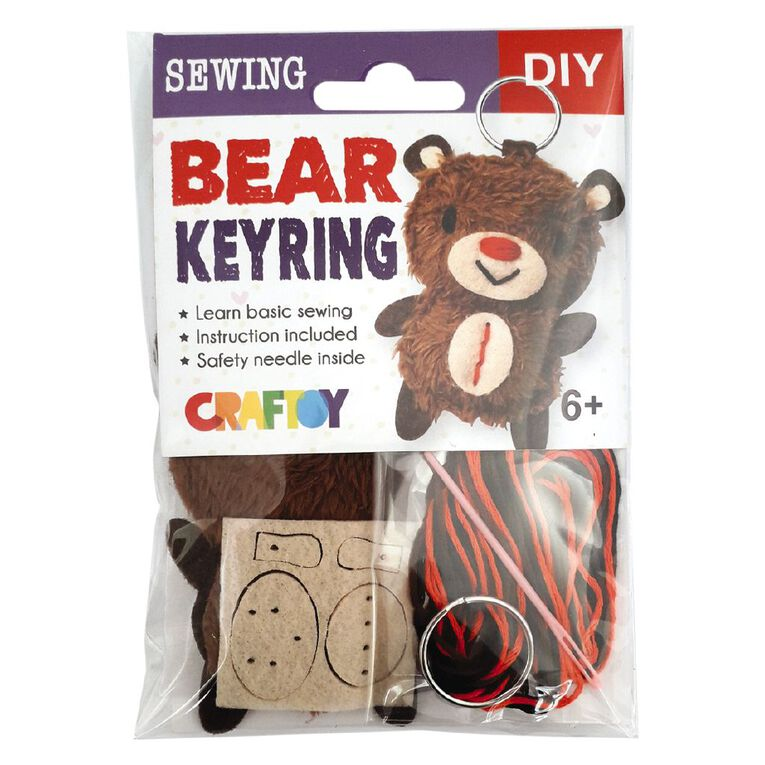 Sewing Keyring Mini Packs Assorted, , hi-res
