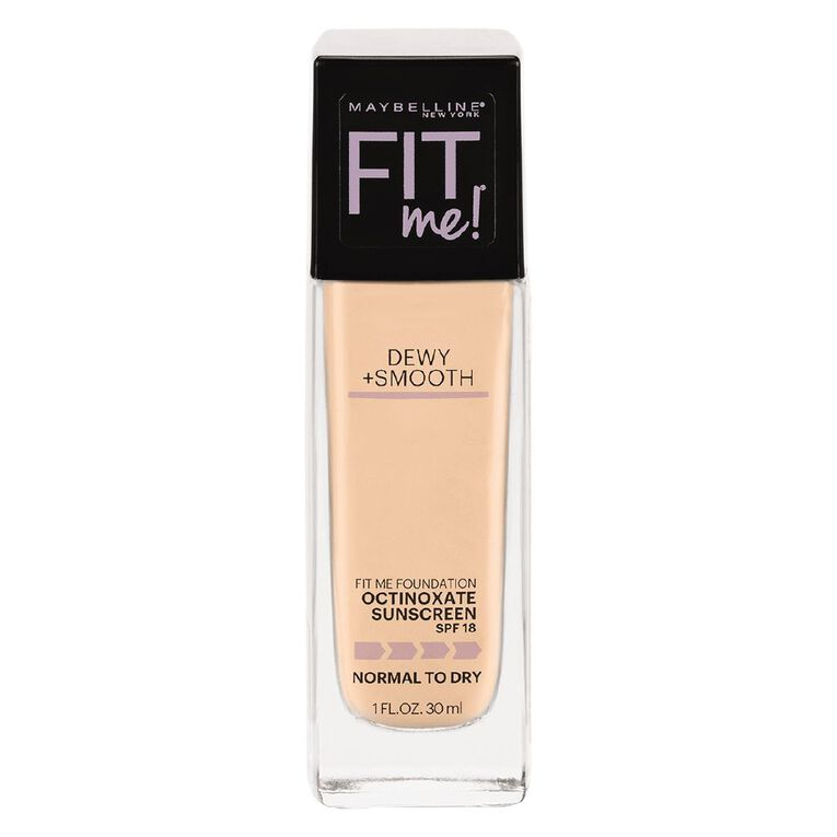 Maybelline Fit Me Dewy & Smooth Luminous Liquid Foundation Classic Ivory, , hi-res