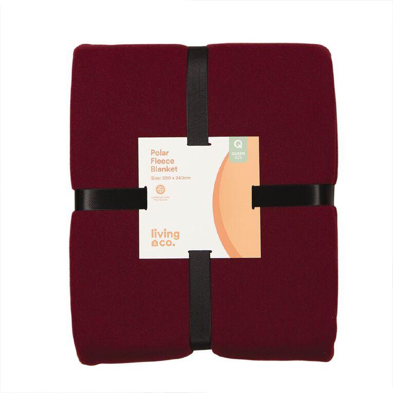 Living & Co Blanket Polar Fleece Winetasting Red Queen, , hi-res