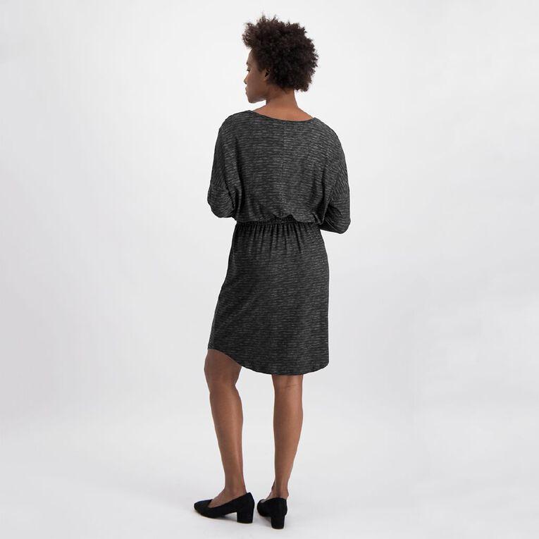Anthem Batwing Scoop Hem Dress, Charcoal, hi-res image number null