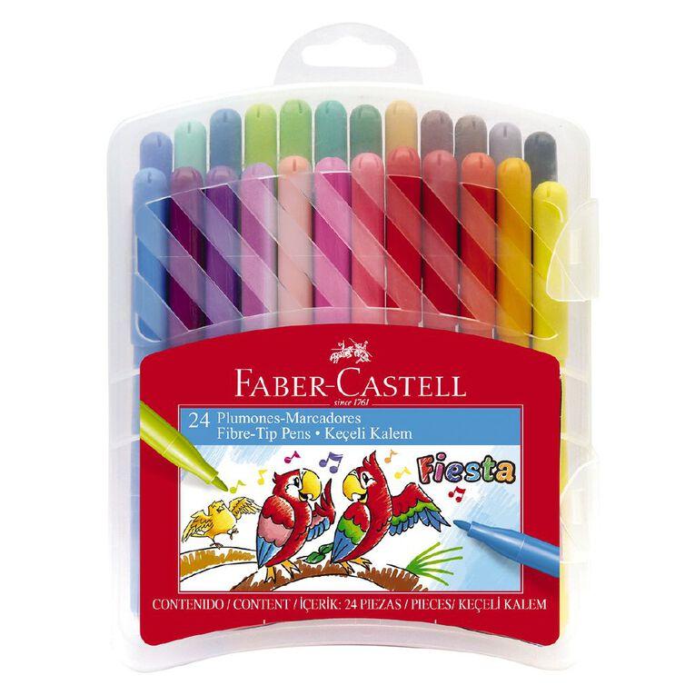 Faber-Castell Fiesta Fibre-tip Pens Plastic Case of 24, , hi-res