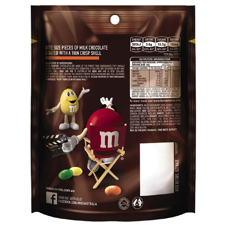 M&M's Milk Chocolate Bag 180g, , hi-res