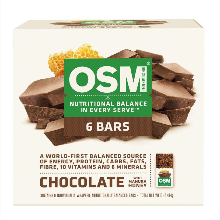 One Square Meal Chocolate with Manuka Honey 6 Pack 495g, , hi-res