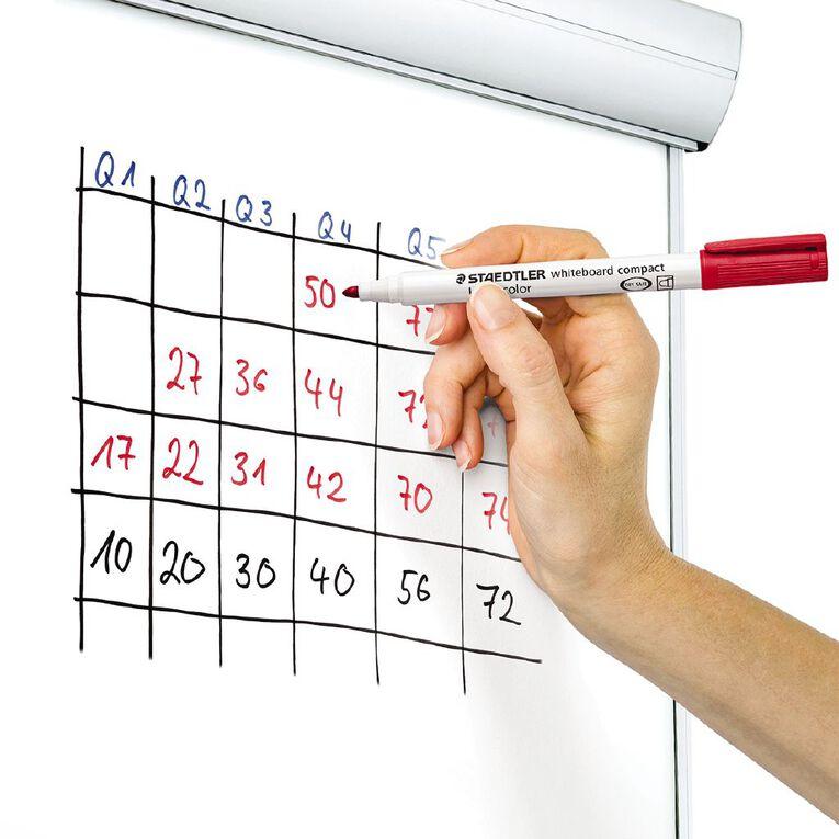 Staedtler Lumocolor Whiteboard Compact Marker Wallet of 4 - Asst Colours, , hi-res image number null
