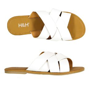 H&H Women's 4 Crossover Strap Sandals