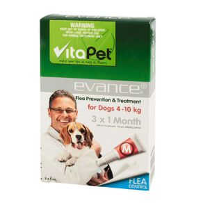 Vitapet Evance Dog Flea Treatment 4 - 10kg