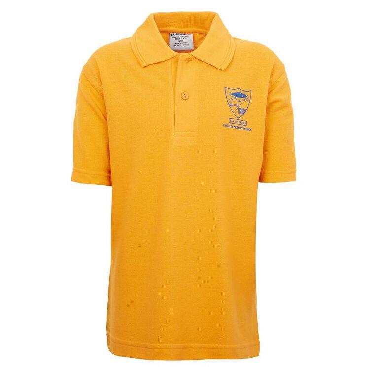 Schooltex Owhata Short Sleeve Polo, Gold, hi-res