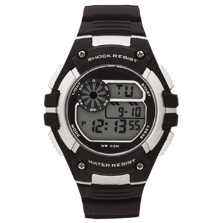Active Intent Men's Sports Digital Watch Black/Grey, , hi-res