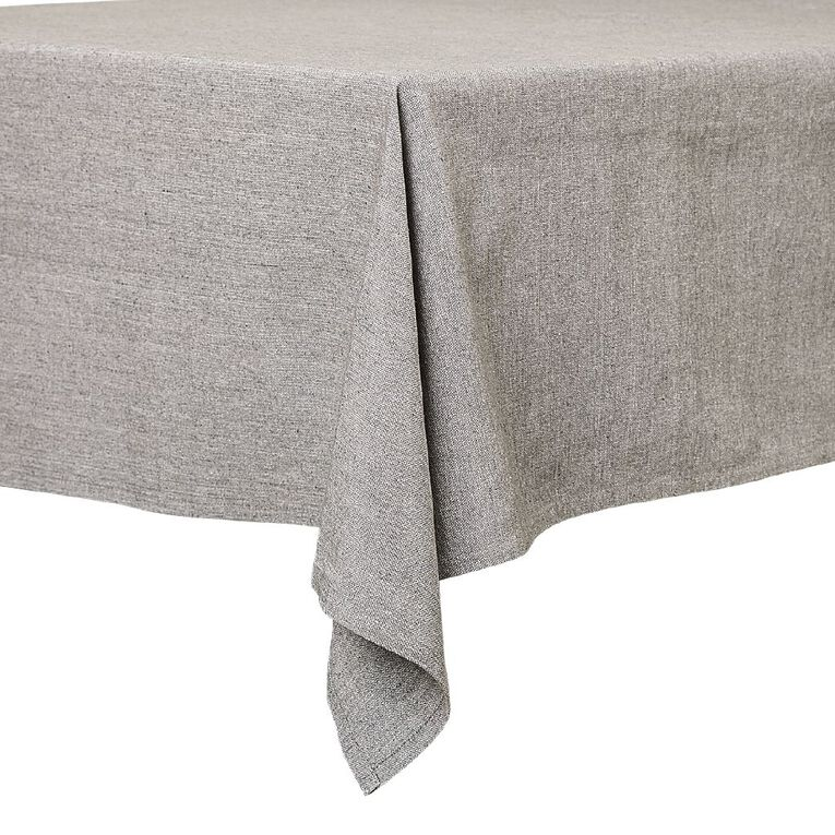 Living & Co Cotton Tablecloth Grey 150cm x 225cm, , hi-res