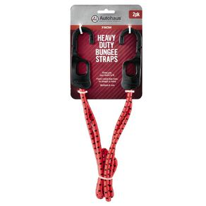 Autohaus Heavy Duty Bungee Strap 2 Pack Red 75cm