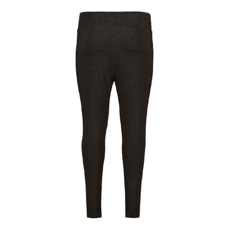 H&H Women's Plus High Waist Leggings, Black, hi-res