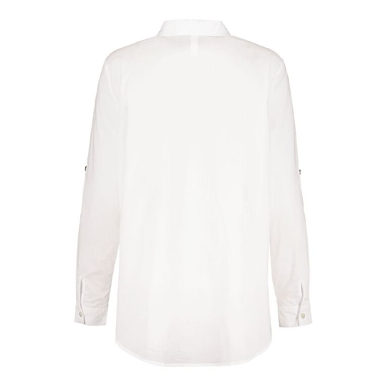 H&H Women's Voile Shirt, White, hi-res