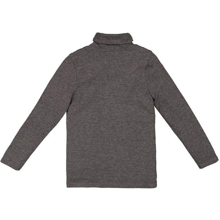 Young Original Plain Skivvy, Grey Dark, hi-res