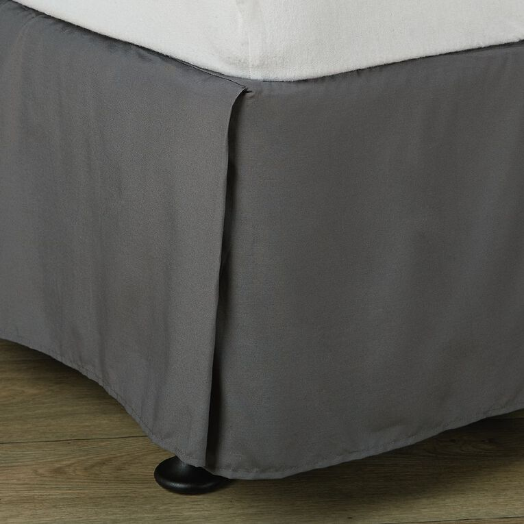 Living & Co Valance Cotton Rich 270 Thread Count Charcoal Queen, Charcoal, hi-res