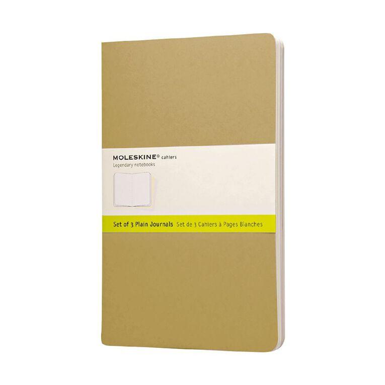 Moleskine Cahier Large Notebook Unruled Kraft 3 Pack, , hi-res