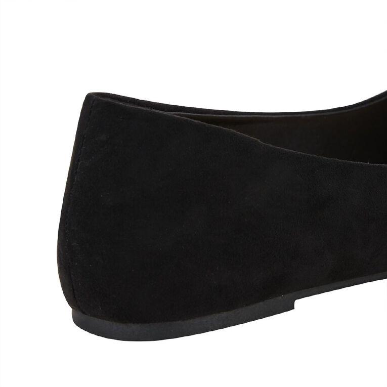 H&H Pleat Toe Ballet Shoes, Black, hi-res