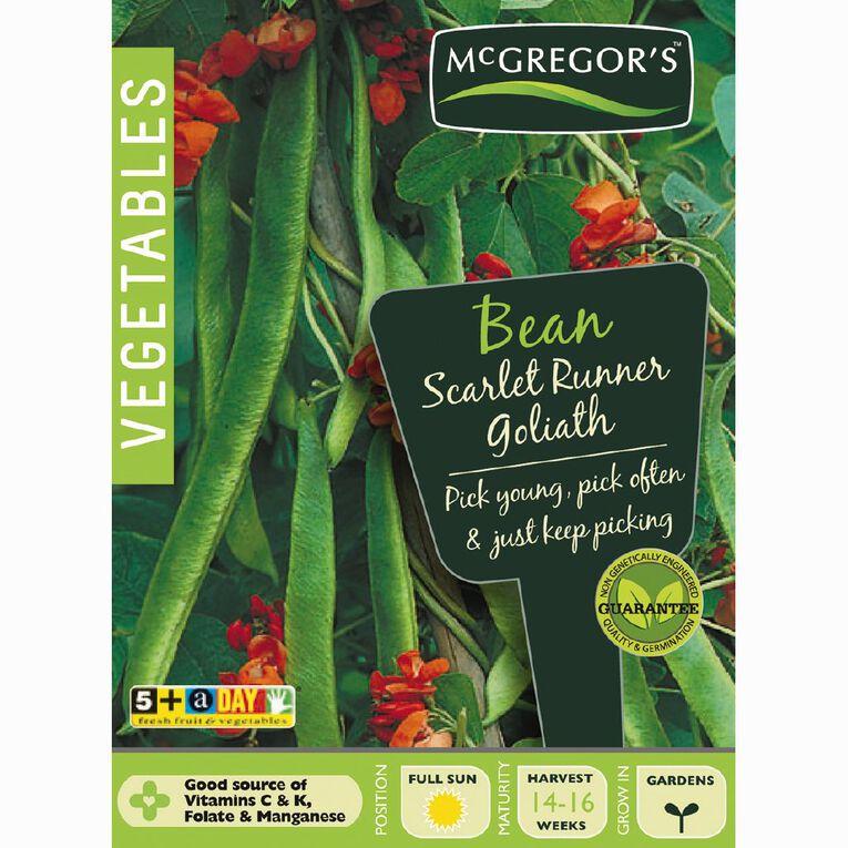 McGregor's Goliath Scarlet Runner Beans Vegetable Seeds, , hi-res