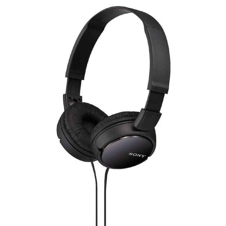 Sony Headphones MDRZX110B Black, , hi-res