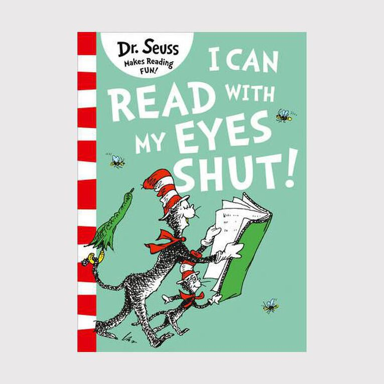 Can Read With My Eyes Shut by Dr Seuss, , hi-res