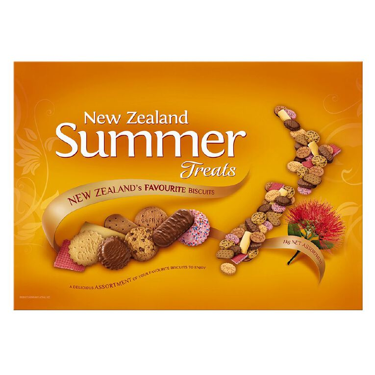 NZ Summer Treats Assortment of Biscuits 1kg, , hi-res