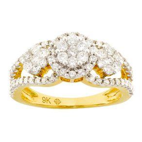 1.00 Carat Diamond 9ct Gold Dress Ring