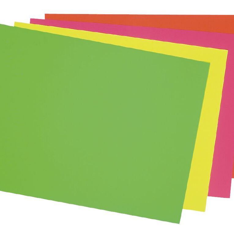 DAS Fluoro Card 230gsm 500 x 650mm Yellow, , hi-res