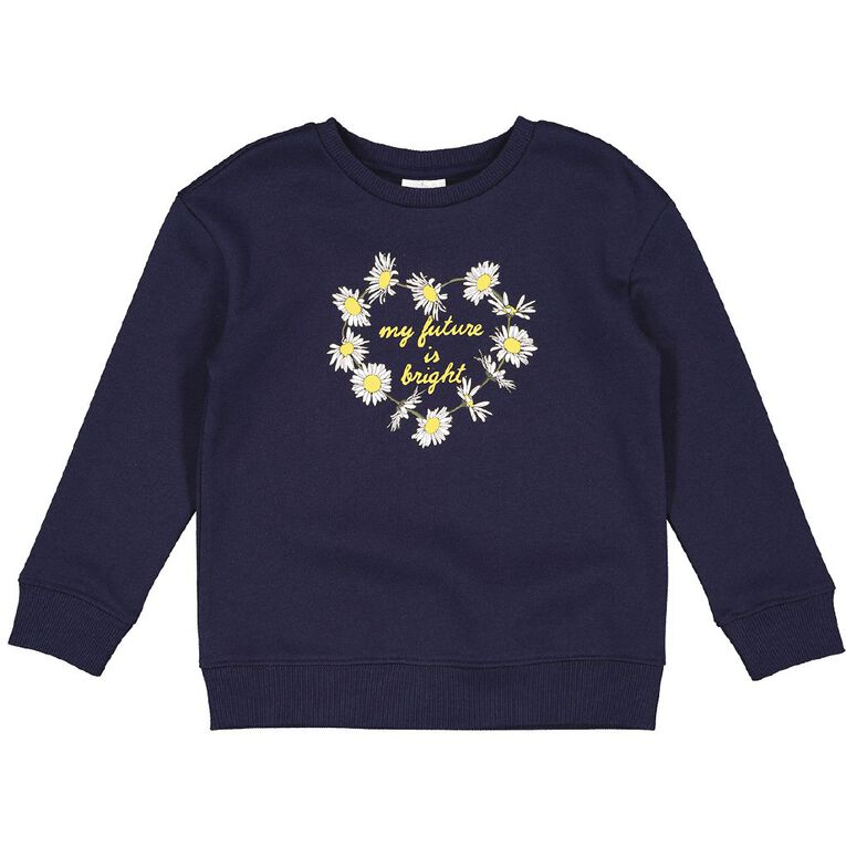 Young Original Printed Pullover Crew Sweatshirt, Blue Dark FUTURE, hi-res