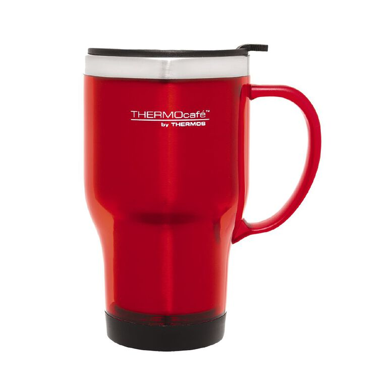 Thermos Travel Mug With Handle Red 450ml, , hi-res
