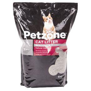 Petzone Cat Litter Bentonite Natural Clay 6kg