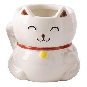 Kiwi Garden Lucky Cat Pot Assorted 12.5cm