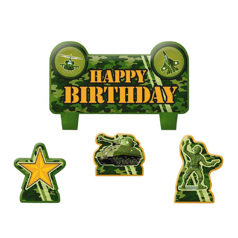 Amscan Camouflage Birthday Candle Set 4 Pack, , hi-res