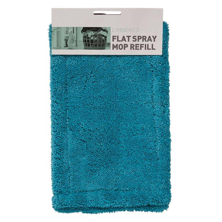 Living & Co Flat Spray Mop Refill Blue, , hi-res
