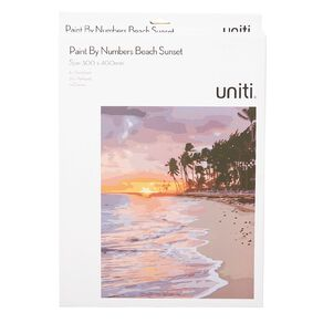 Uniti Paint By Numbers Beach Sunset 300mm x 400mm