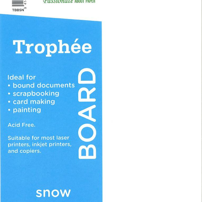 Trophee Board 210gsm 100 Pack Snow White A4, , hi-res