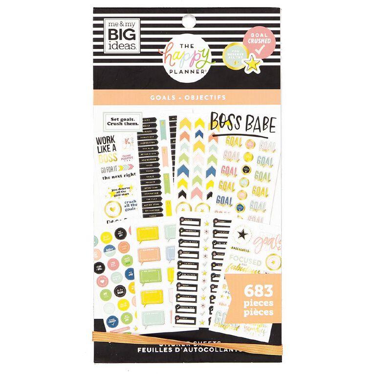 Me & My Big Ideas Sticker Book Goals, , hi-res