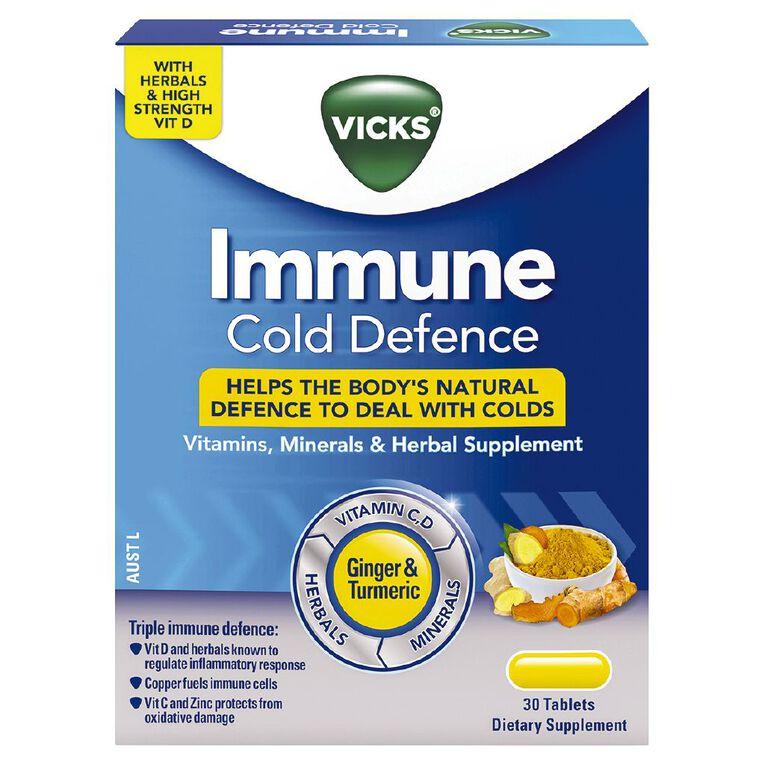 Vicks Immune Cold Defence Tablet 30 Tablets, , hi-res
