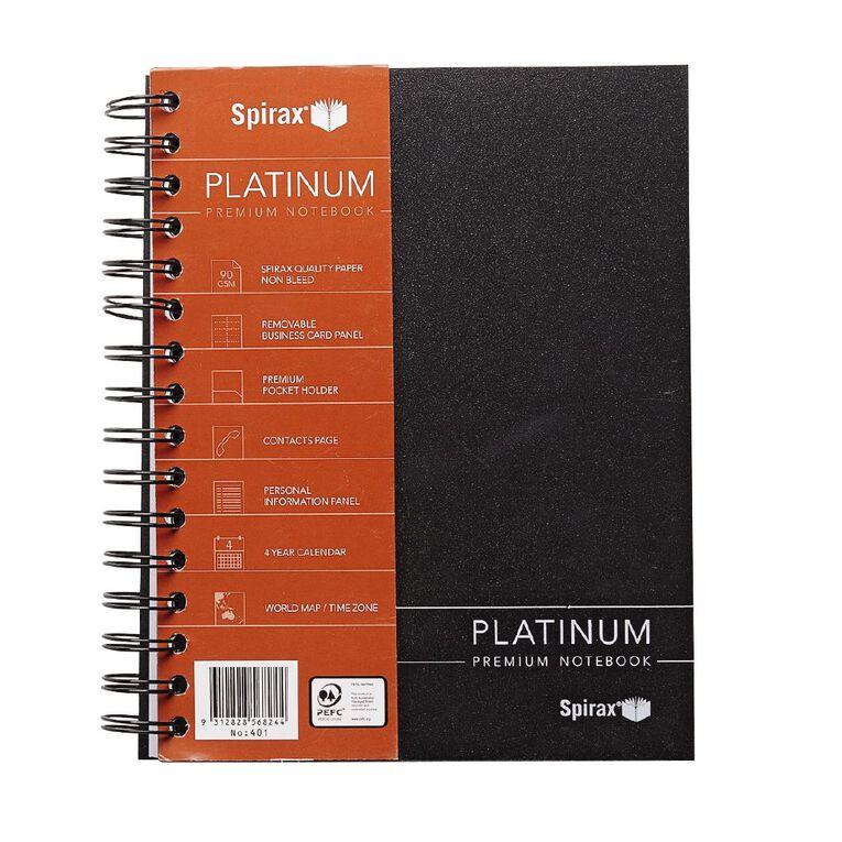 Spirax Notebook 401 Platinum Black A5, , hi-res