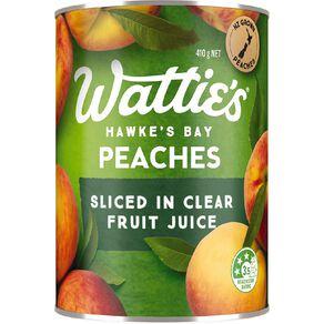 Wattie's Sliced Peaches in Juice 410g