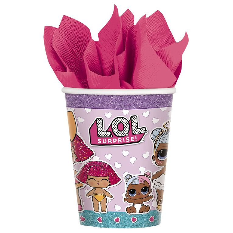 LOL Surprise Paper Cups 266ml 8 Pack, , hi-res