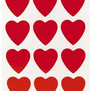 Quik Stik Labels Hearts Red