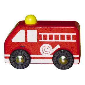 Play Studio Mini Wooden Vehicle Fire Engine