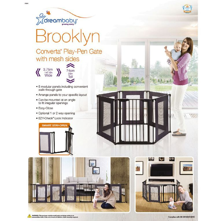 Dreambaby Brooklyn Converta Play-Pen Gate With Mesh Sides, , hi-res