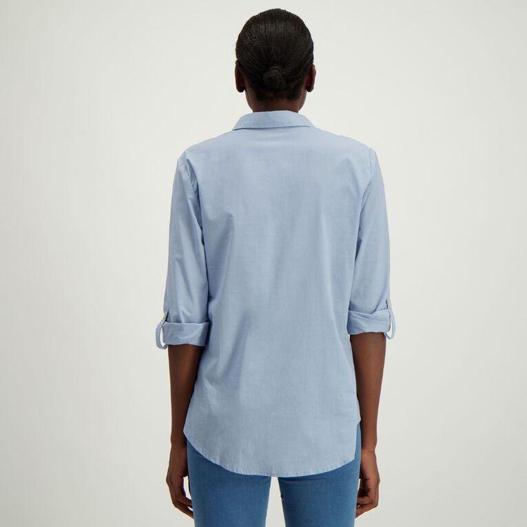 H&H Women's Voile Shirt, Blue Light, hi-res