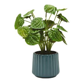 Living & Co Artificial Plant in Ridged Pot Green