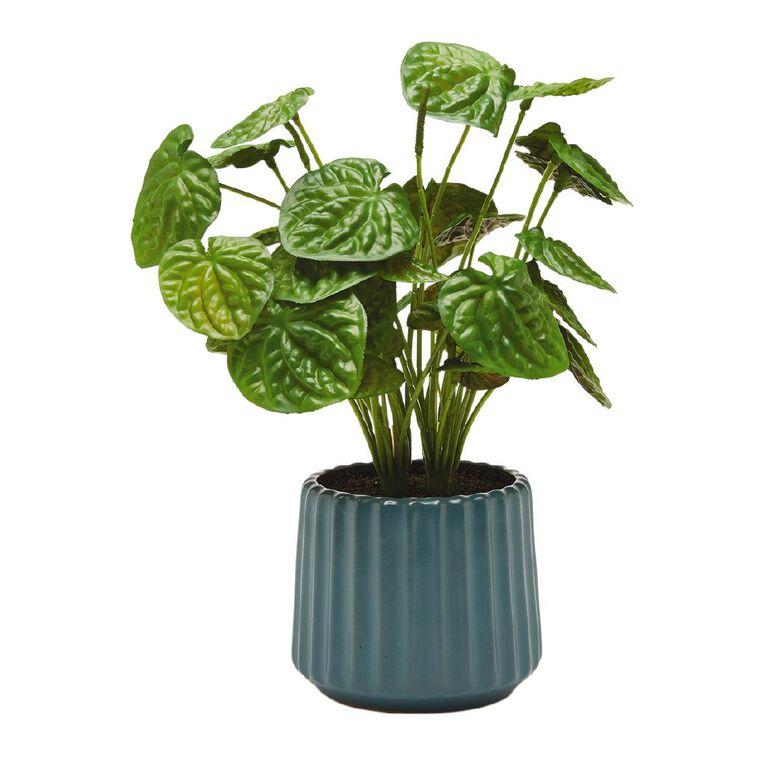 Living & Co Artificial Plant in Ridged Pot Green, , hi-res